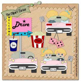 The Clipart Corner: 50\'s Drive.