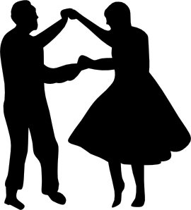 Dancing Couple Fifties clip art.
