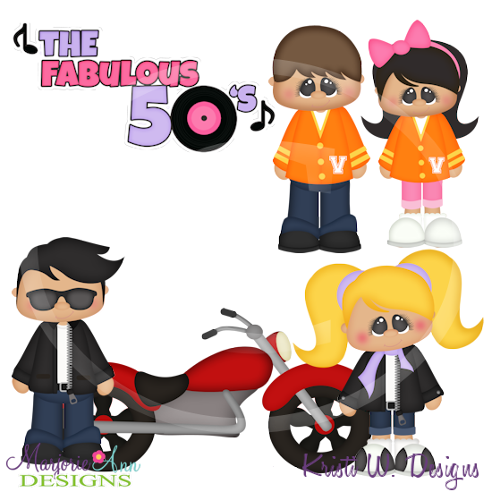 50s day clipart.