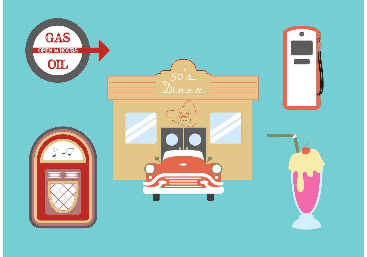 50s Diner Vectors Download Free Vector Art Stock.