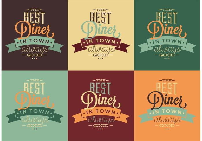 Best 50s Diner Typographic Signs eps file.