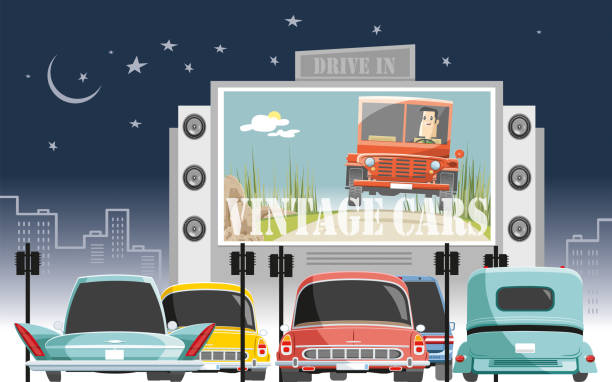 Best Drive In Illustrations, Royalty.