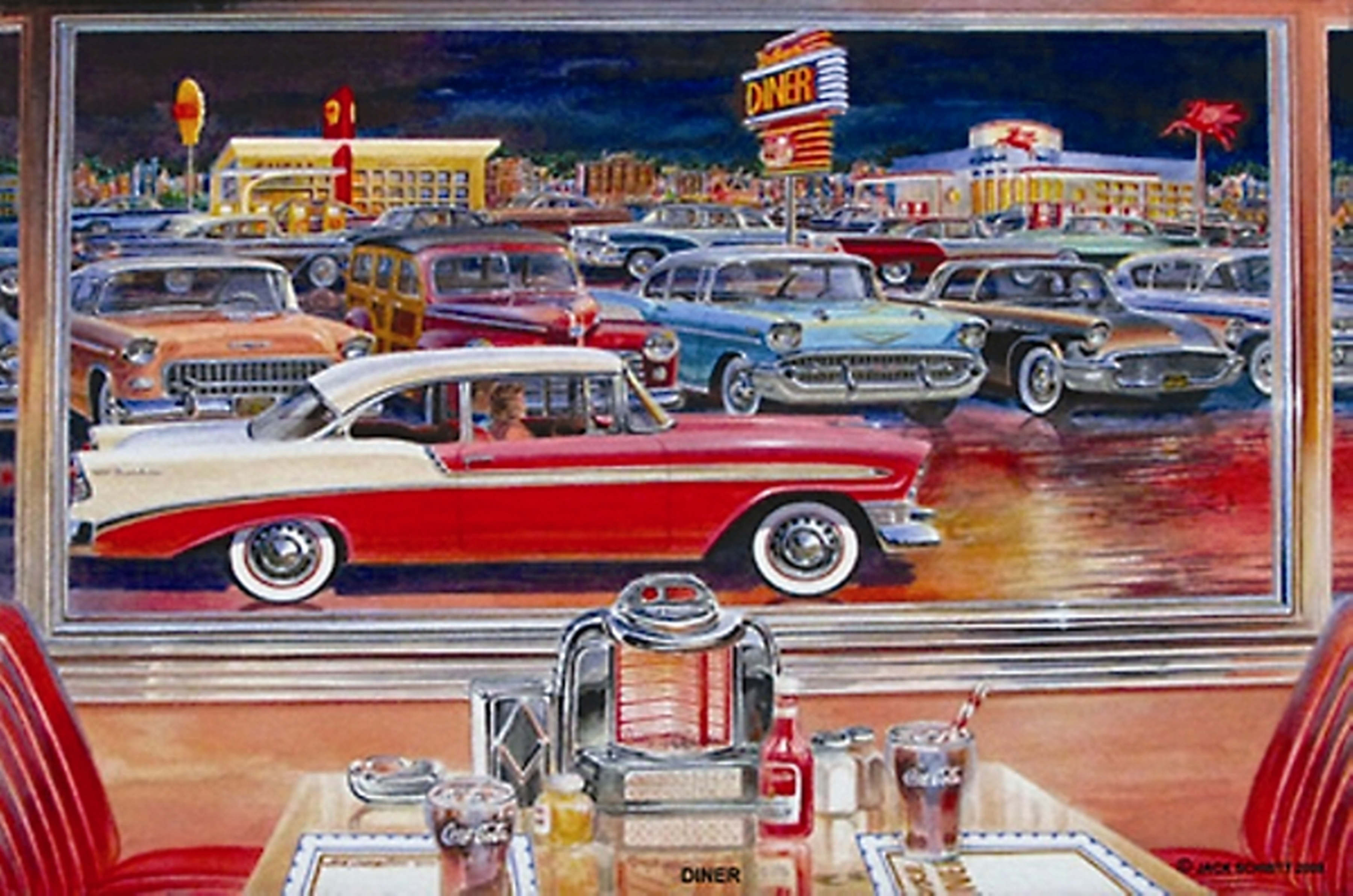 50s Drive In Clipart.