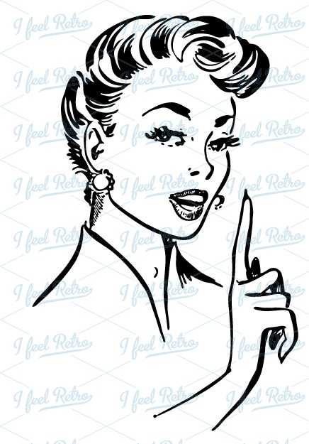 50s clipart woman, 50s woman Transparent FREE for download.