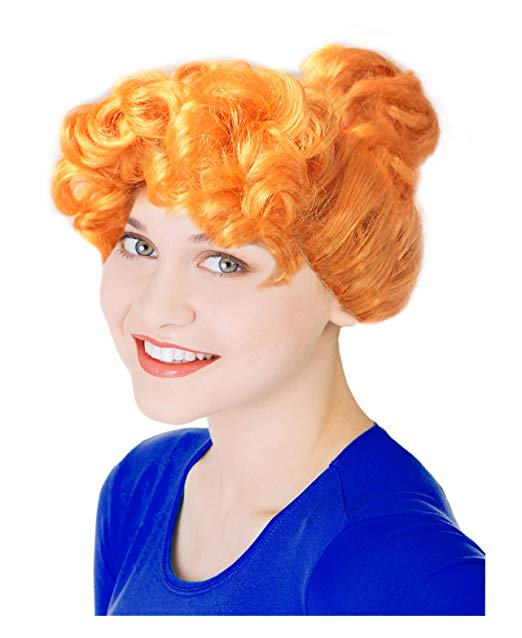 Amazon.com: Orange Frizzle Costume Wig Wilma Costume Wig.