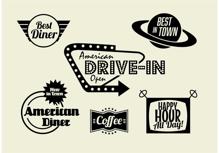50s Diner, Coffee, and Fast Food Pack.