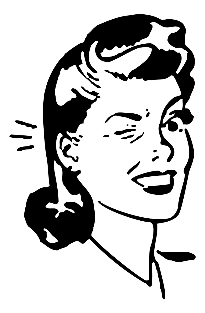 50s housewife clipart.