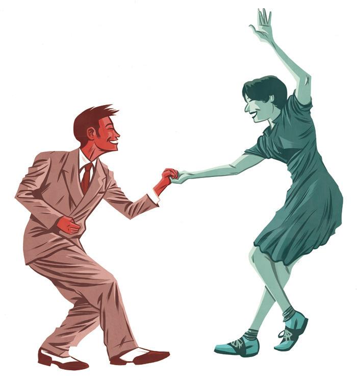 50s Dancing Illustration.