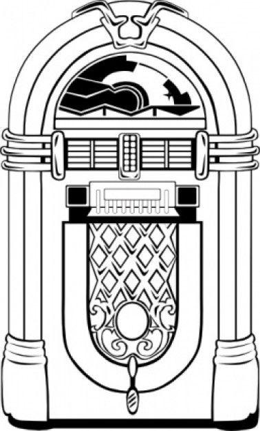 Fifties Jukebox clip art.