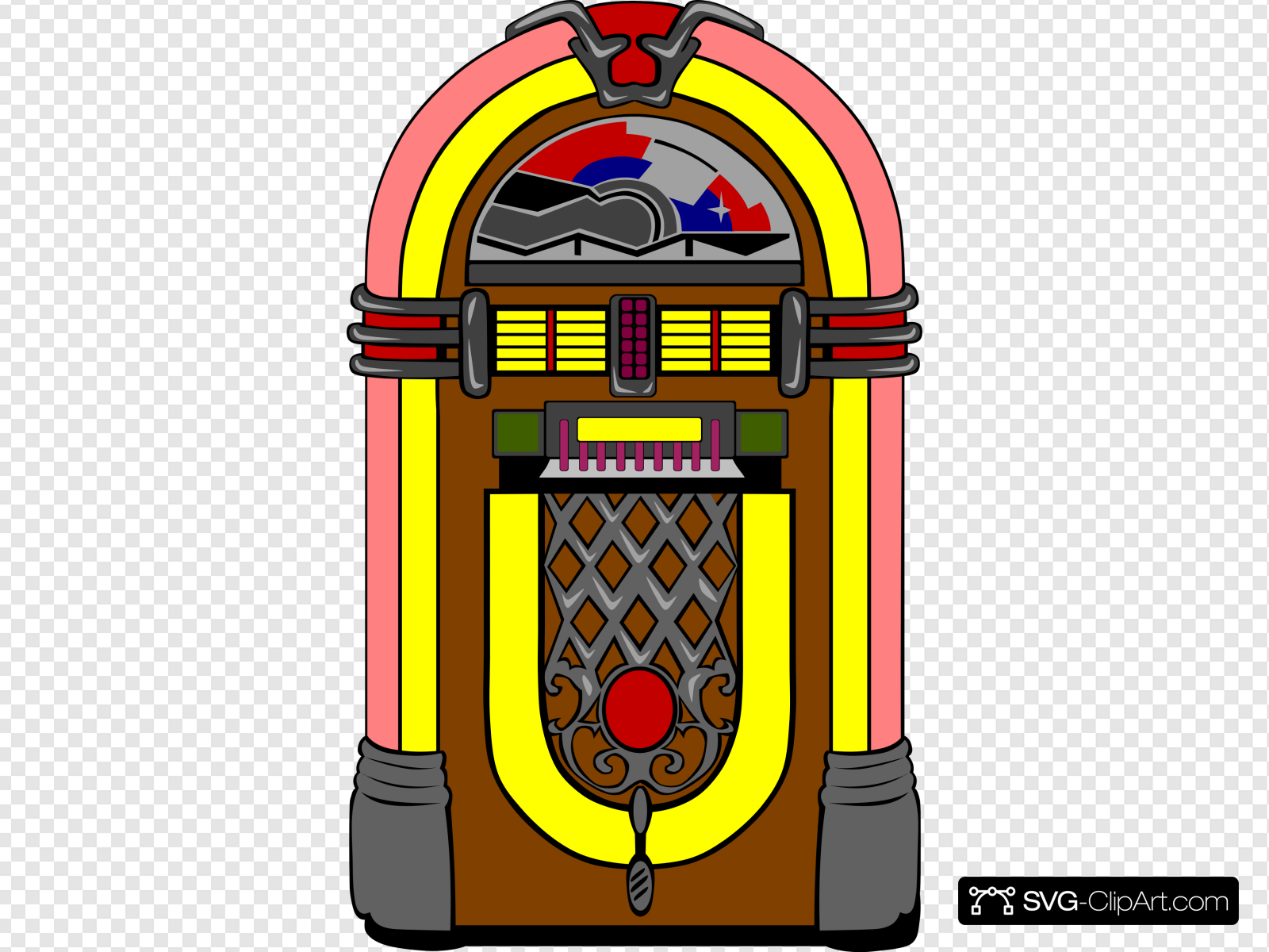 Fifties Jukebox 3 Clip art, Icon and SVG.