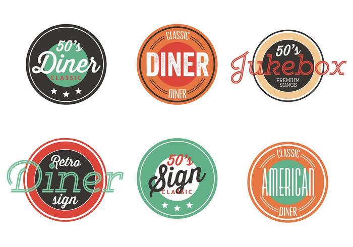 Vintage 50s Diner Label Collection.