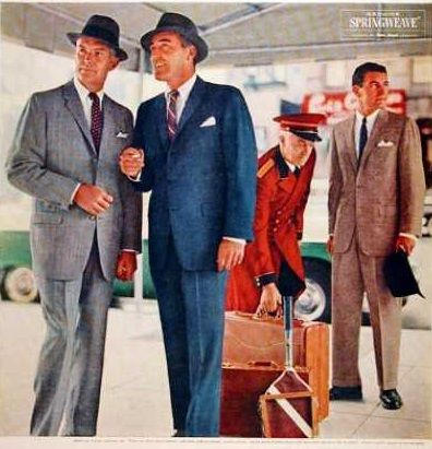 1950s Men\'s Fashion History for Business Attire.