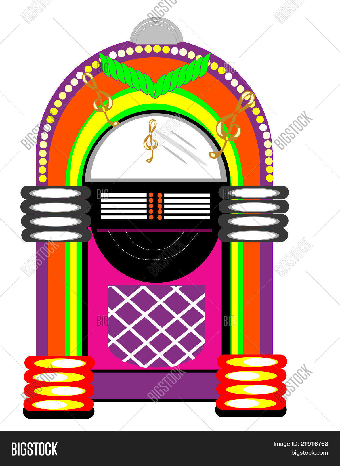 50's Retro music Juke Box Stock Vector & Stock Photos.