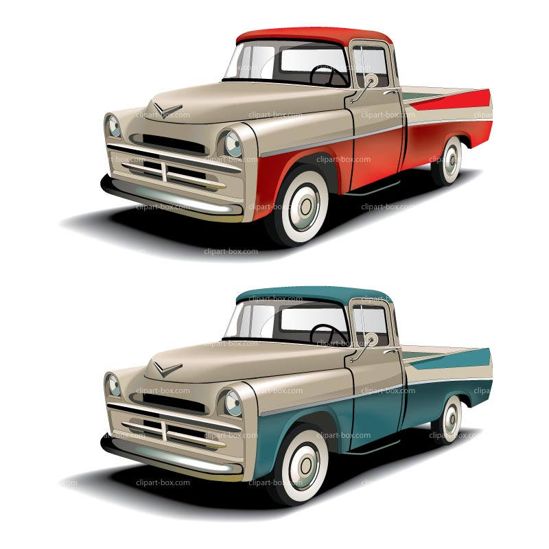 CLIPART 50S PICKUP.