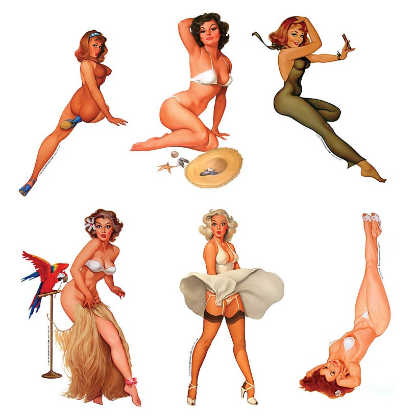 Vintage Pin Up Clipart.