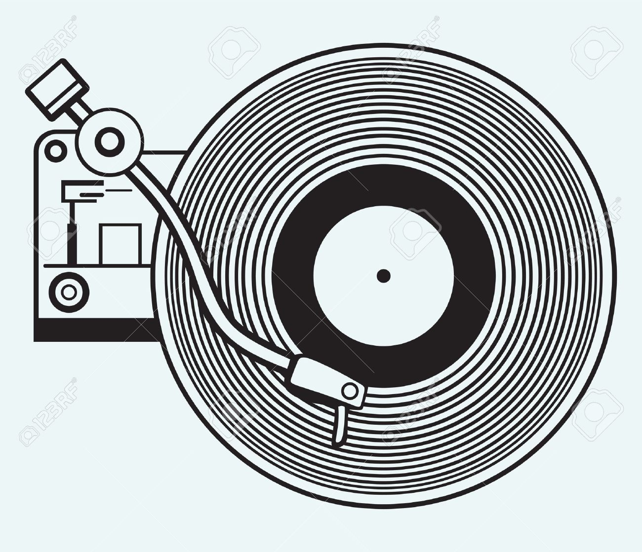 Vinyl Record Player Clipart.