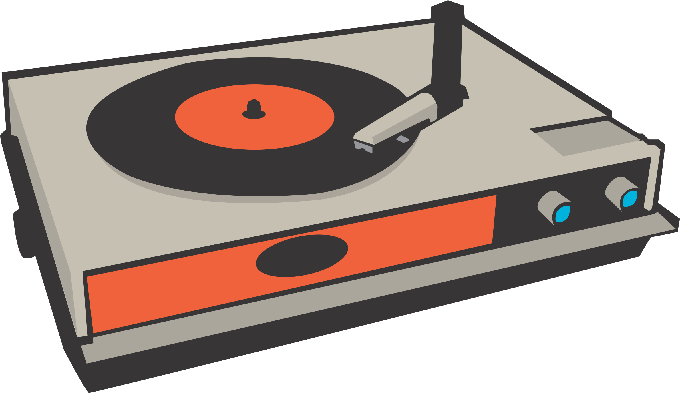 Phonograph Record Disc Jockey Music Clip Art.