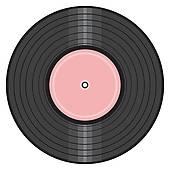 50\'s Record Clipart.