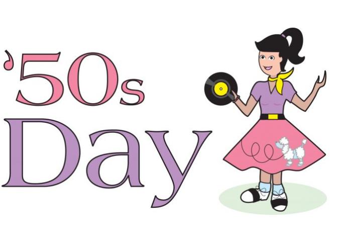 Celebrate a '50s day clip art..