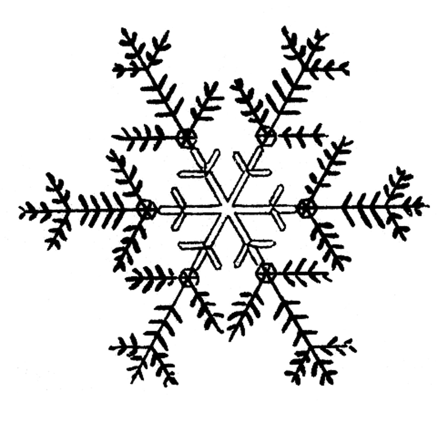 Vintage snowflake clipart clipart images gallery for free.
