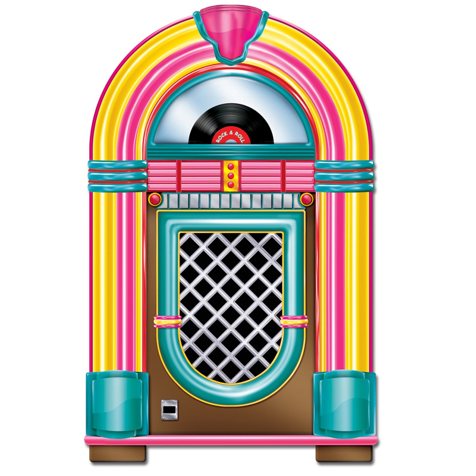 Try this cardstock Jukebox Cutout to give your 50\'s party.