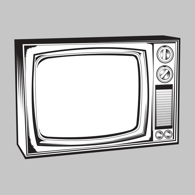 Vintage tv clipart.
