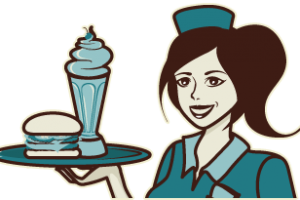 Diner waitress clipart » Clipart Station.
