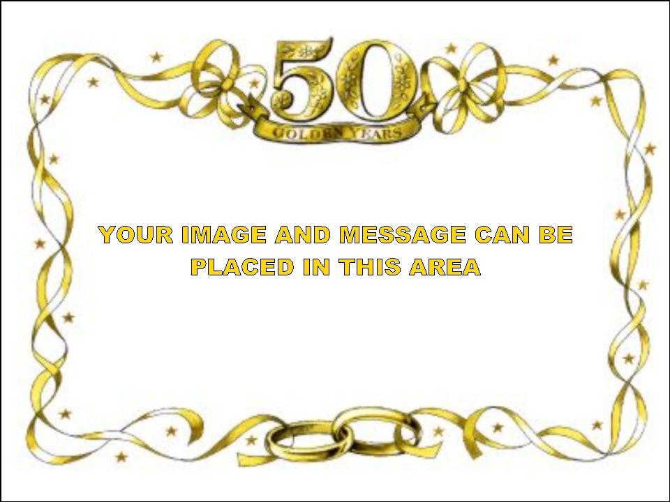 50th Anniversary Border Clip Art Free.