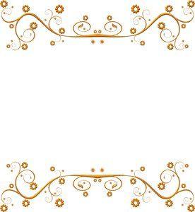 Wedding Anniversary Gold Border cakepins.com.