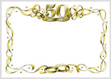 50th Wedding Anniversary Invitation Clip Art Free.