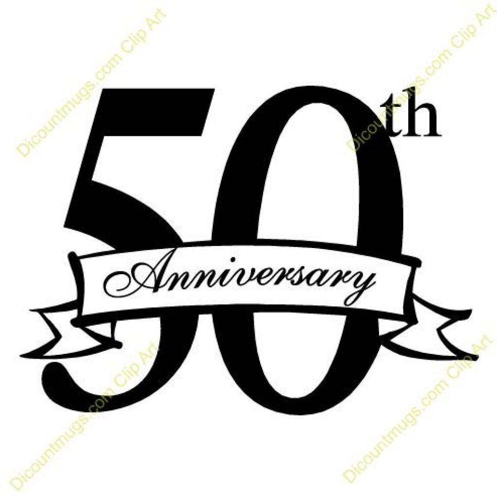 Shining 50th Anniversary Clipart Luxurious And Splendid Years Badges.