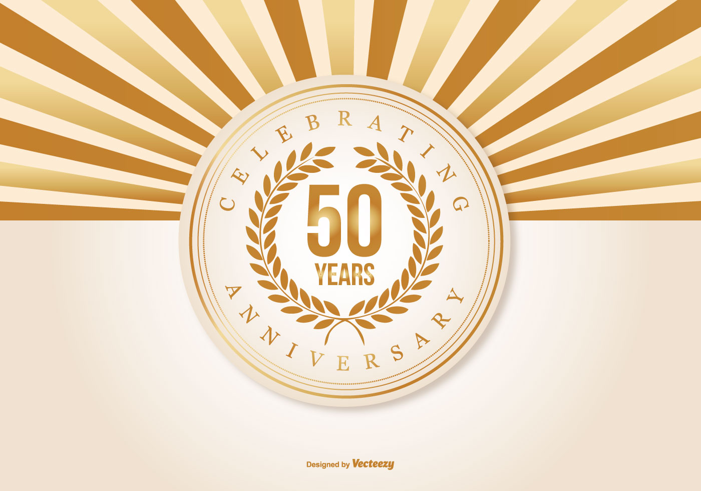 50th Wedding Anniversary Free Vector Art.