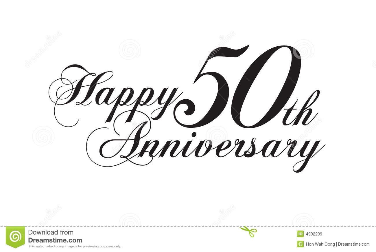 Happy 50th Anniversary Clipart.