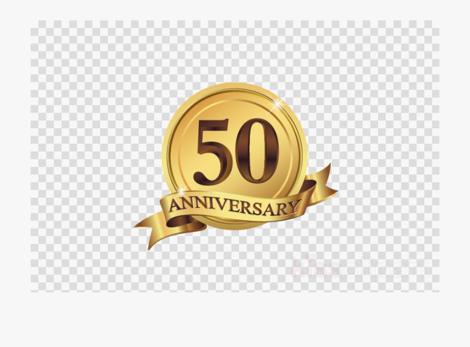 50th Wedding Anniversary Logo Png , Transparent Cartoon.