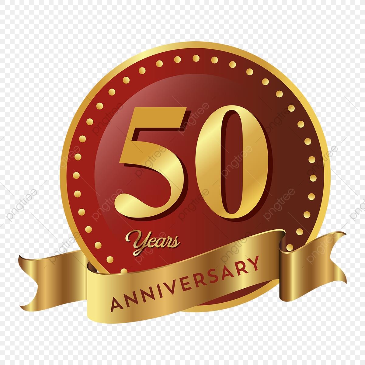 50th Anniversary Badge Icon, Anniversary, 50 Anniversary, Badge PNG.