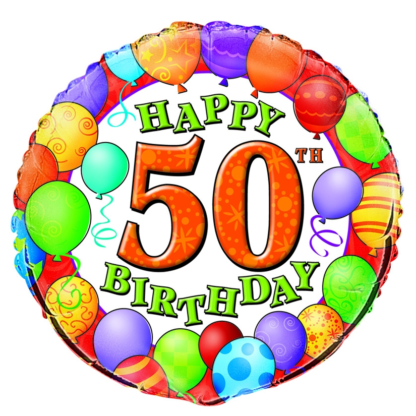 Happy 50th Birthday Clipart.