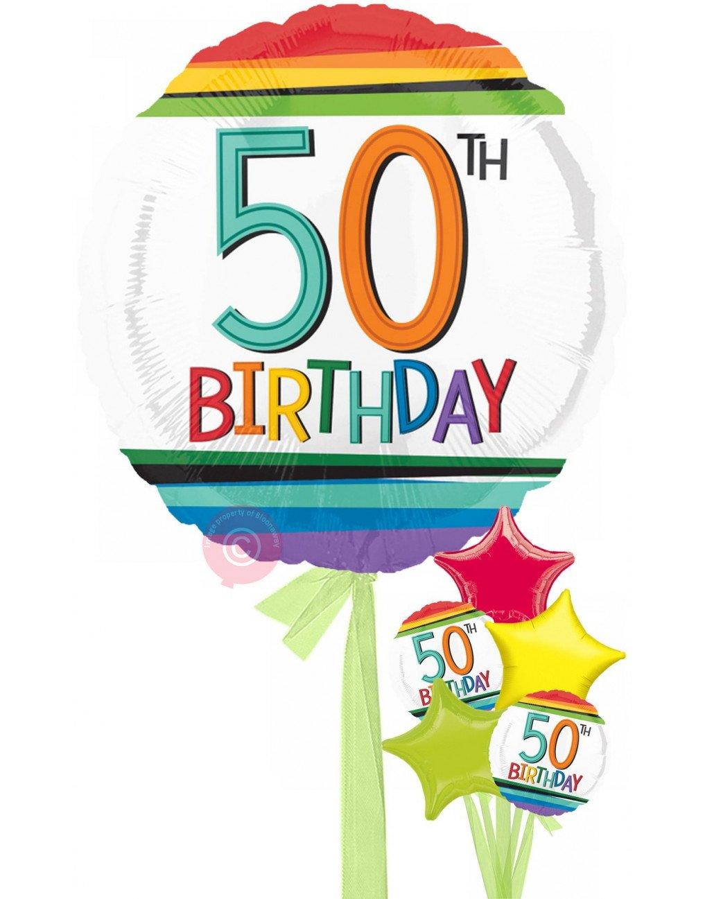 Num 50 Rainbow 50th Birthday.