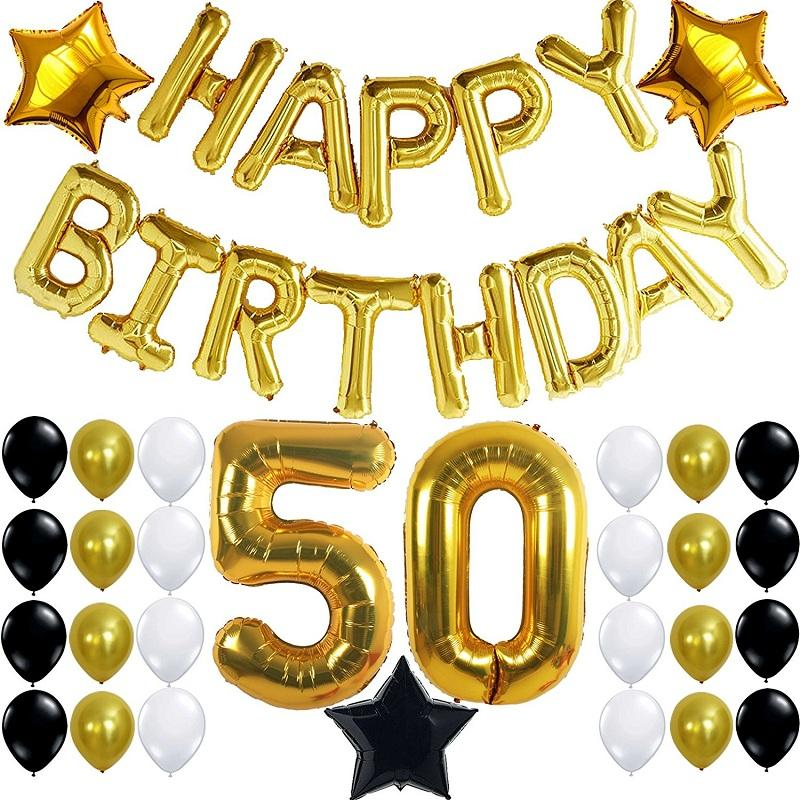 50th Birthday Party Decorations Kit With Happy Birthday.