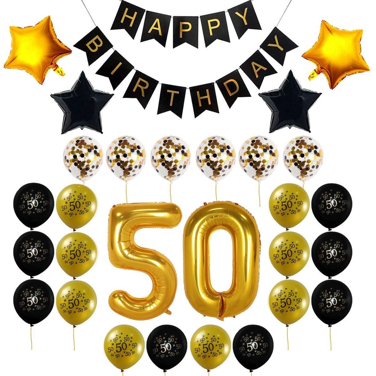 Buy decocheer 50th Birthday Decorations Gift for Men Women.