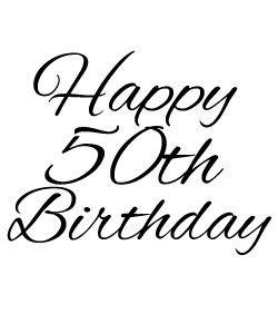 Free 50th Birthday Clipart.