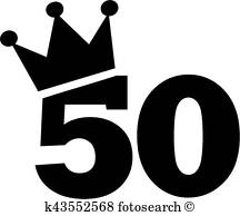 50Th Birthday Clipart Vectors.