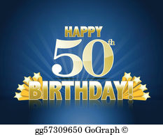 50Th Birthday Clip Art.