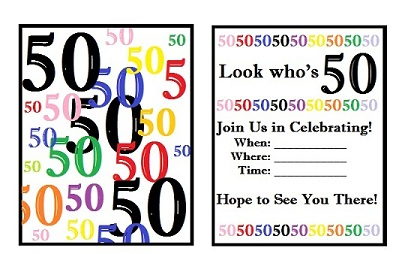 50th Birthday Clip Art Free.