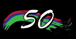 Happy 50th Birthday Clip Art.