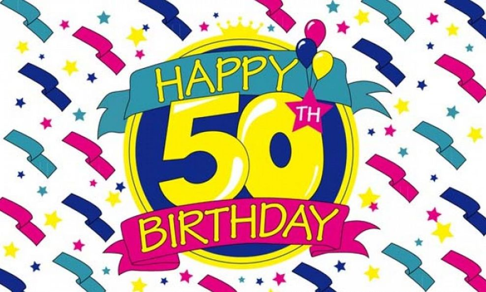 Happy 50th Birthday Clipart Book 2726.