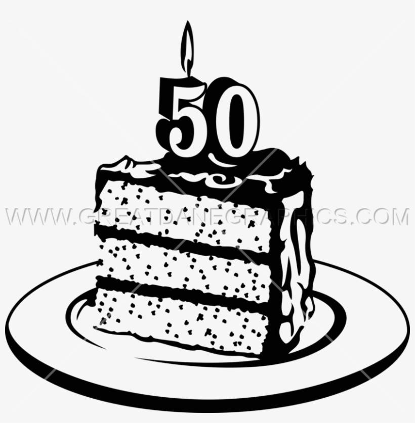 50th Birthday Cake Png.