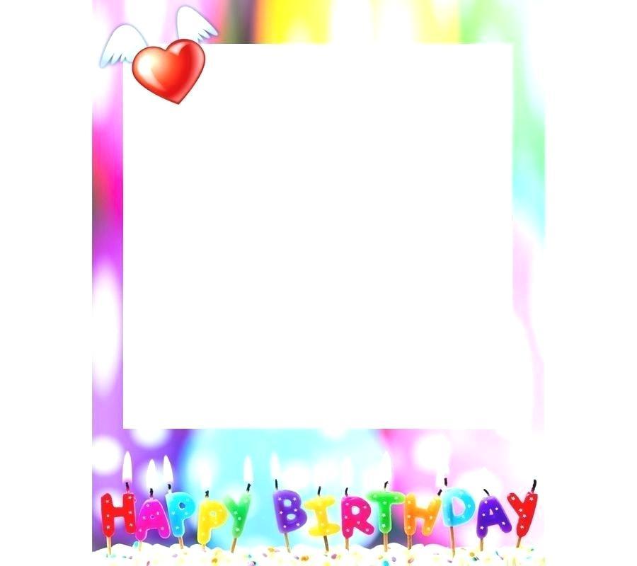 Birthday Border Clip Art Happy Birthday Card Typography.