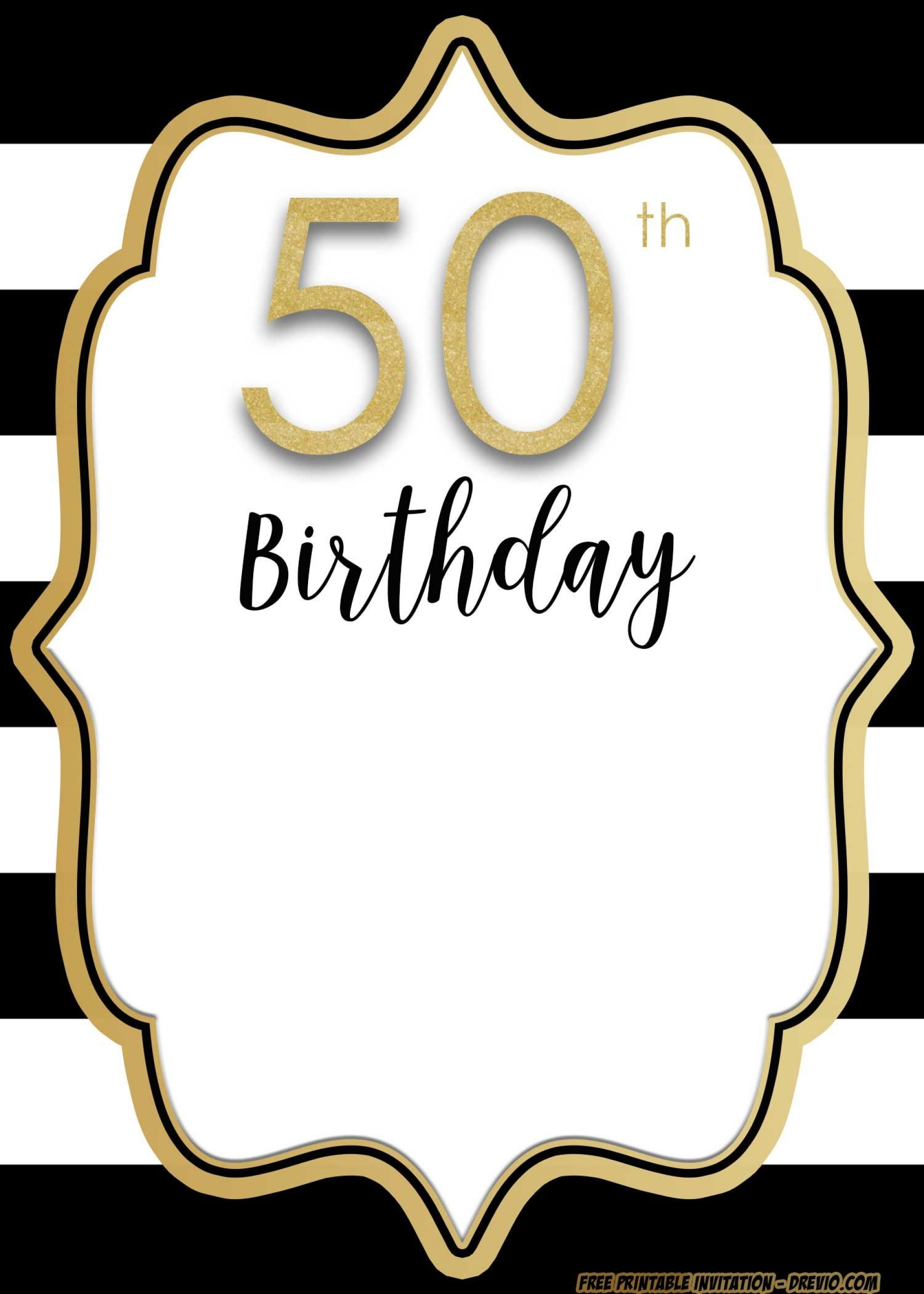 Staggering 50th Birthday Invitations Templates Template.