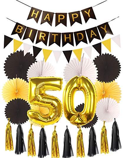 Amazon.com: 50th Birthday Party Decorations KIT.