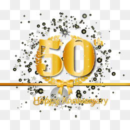 50th Anniversary Png, Vectors, PSD, And #145182.